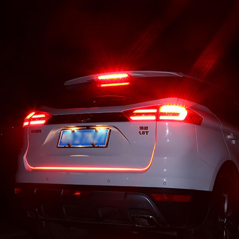 KEEN Tailgate signal light strip Turn Signal Tail led moving flash warning light car led trunk light flexible 1.2M Red Blue lamp(China (Mainland))