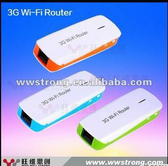 3g Wireless wifi router with sim card slot and 1800mAh Power Bank(China (Mainland))