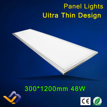 2pcs/lot  Suspended led panel 300x1200, 48W SMD LED Panel Light with 2880lm Replace 120W Incandlescent Tube,hight power(China (Mainland))