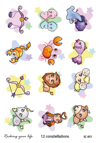 New 2016 Mini Mixed Cartoon Animal Tattoo Designs Waterproof Fake Body Temporary Tattoo Stickers Tatoos tatuagem Rocooart(China (Mainland))