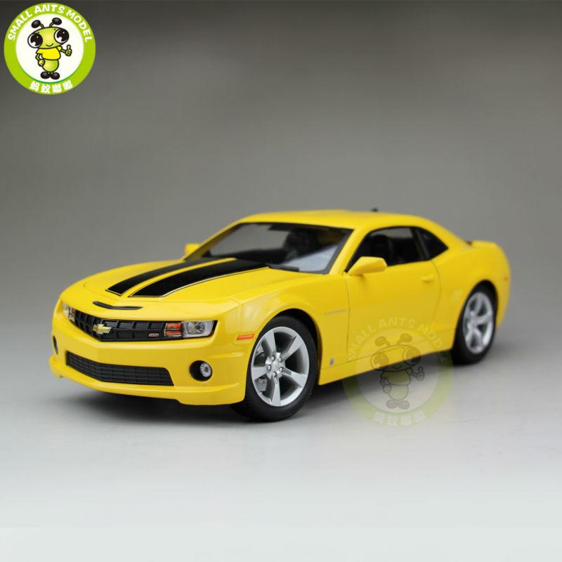 1/18 2010 Chevrolet CAMARO SS RS Diecast Model Car Maisto 31173 Yellow(China (Mainland))