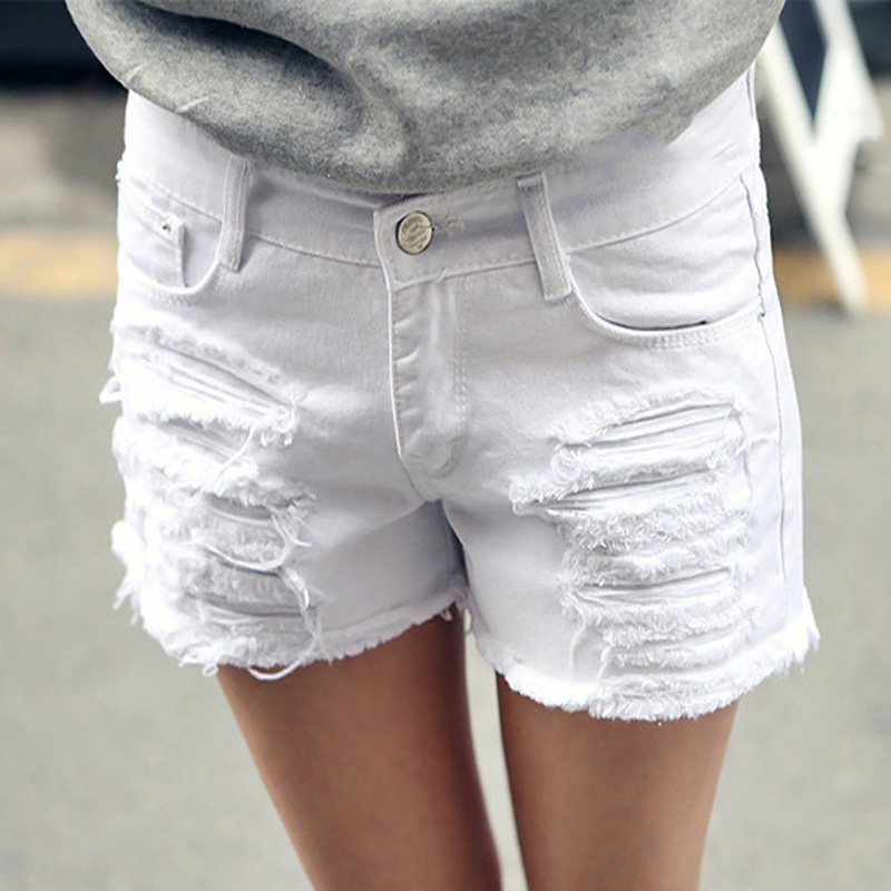 plus size 6xl white denim shorts women 2016 summer fashion black ripped jeans shorts hole tassel. Black Bedroom Furniture Sets. Home Design Ideas