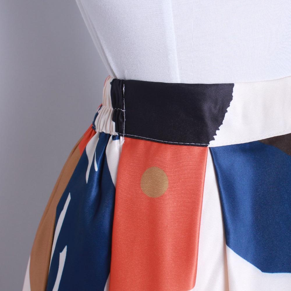 HTB1rrKRQFXXXXbqXXXXq6xXFXXXD - GOKIC 2017 Summer Women Vintage Retro Satin Floral Pleated Skirts Audrey Hepburn Style High Waist A-Line tutu Midi Skirt