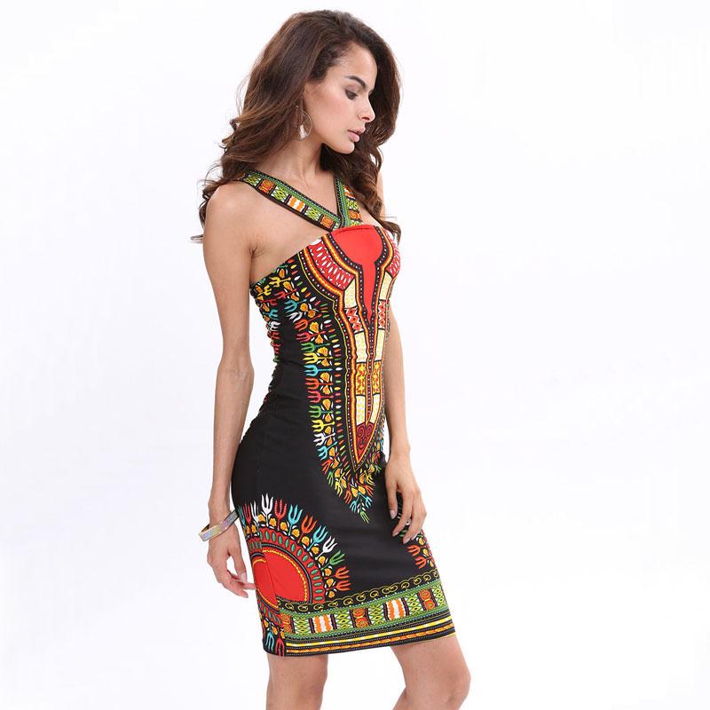 2016 New African Fashion Design Dashiki Dress Women Sexy