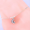 Fashion Jewelry Foot Chain Silver Plated Beads Star and Moon Anklet For Women Girls Summer Style