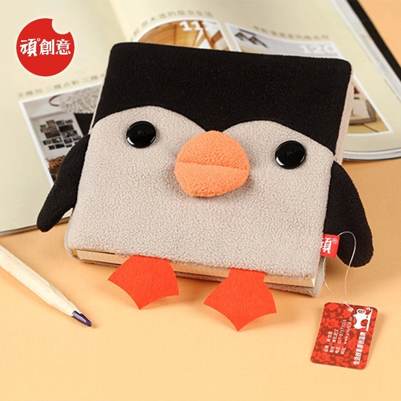 2015 Cute Kawaii Cartoon Penguin Velveteen notebook creative trends Notebook Diary Planner Notepad kids Gift DIY Stationery - Fashion Shop 7 store