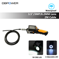 DBPOWER Endoscope NTS200 Inspection Camera with 3 5 Inch LCD Monitor 8 2mm Diameter 2 Meters