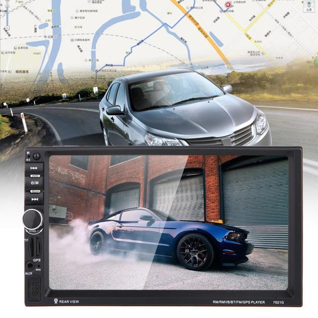 """7 """"2 ДИН Сенсорный Экран Автомобиля MP4 MP5 Плеер Bluetooth GPS Навигации FM/AUX-IN/USB/SD В Тире руки-бесплатный GPS Карта Аудио-Видео Плеер"""