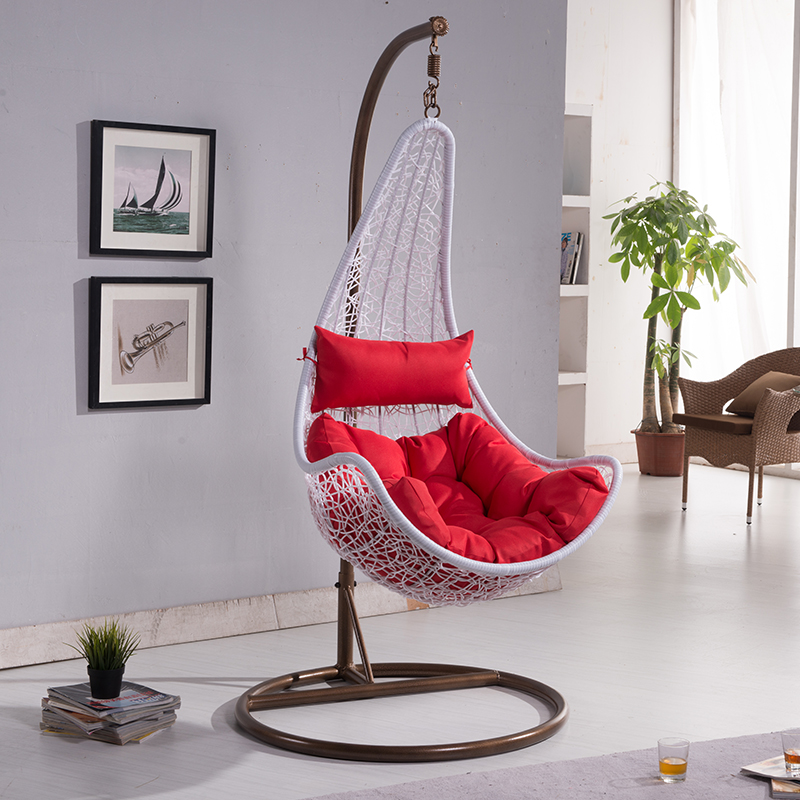 Rattan rocking chair swing hanging basket casual outdoor - Hanging baskets for balcony ...
