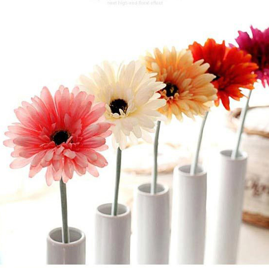 10pcs/Set, Artificial gerbera Silk Flower for Home Decoration & Wedding(China (Mainland))