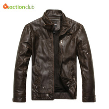 2015 New Arrival Brand Motorcycle Leather Jackets Men Jaqueta De Couro Masculina Mens Leather Jackets Zip Leather Jackets(China (Mainland))