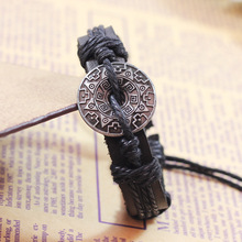 2014 New Fashion Charm Leather Bracelet Men Luxury Bracelets Bangles Vintage Jewelry for Women Bijoux Pulseira