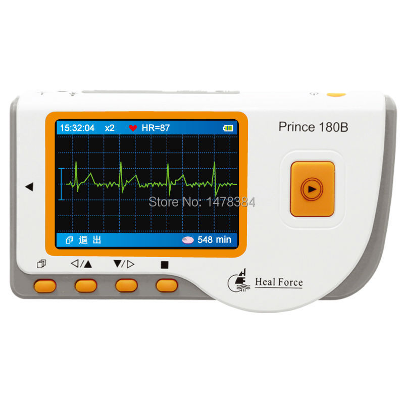Free shipping Health Care HEAL FORCE 180B LCD Handheld ECG Portable EKG Heart Monitor Electrocardiogram Software USB CE approved