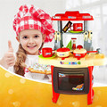 Kids toys Mother garden Beauty Kitchen Cooking Toy Play set for Children and parents Red games