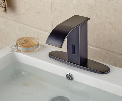 Automatic Touchless Sensor Waterfall Bathroom Sink Vessel Faucet Oil Rubbed Bronze With Hole