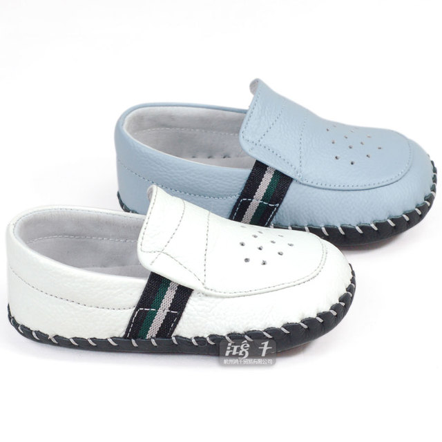 Sheep spring and autumn genuine leather breathable baby shoes indoor shoes 3205
