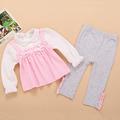 2015 spring autumn cute t shirts pants 2pcs baby girl clothes set cotton princess clothing set