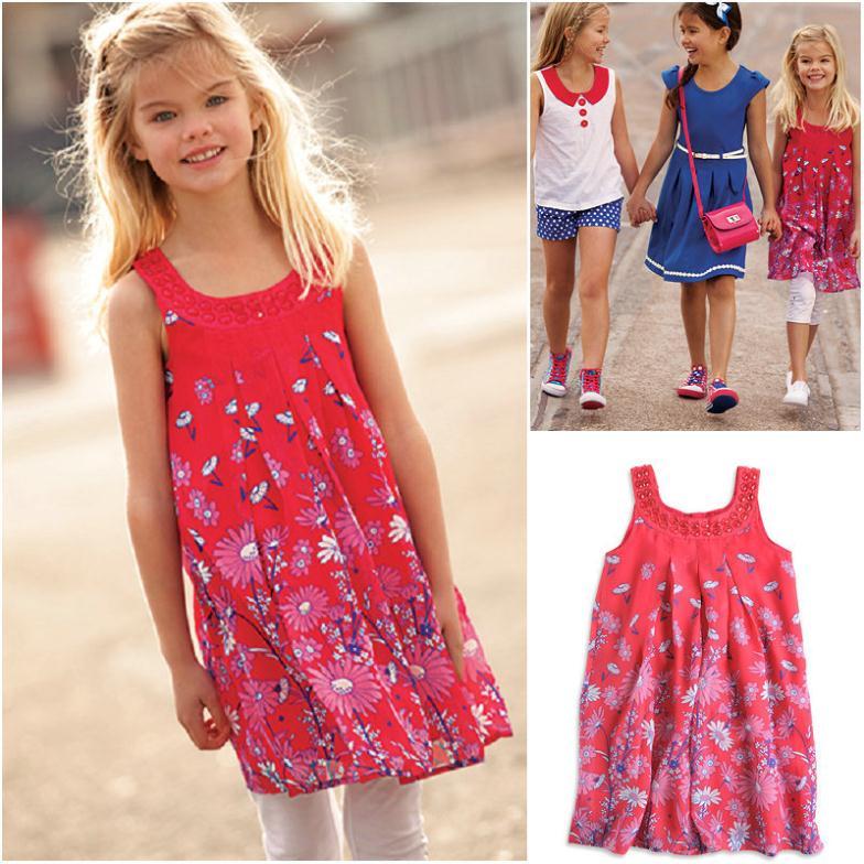 Летние платья на девочек 9-10 лет