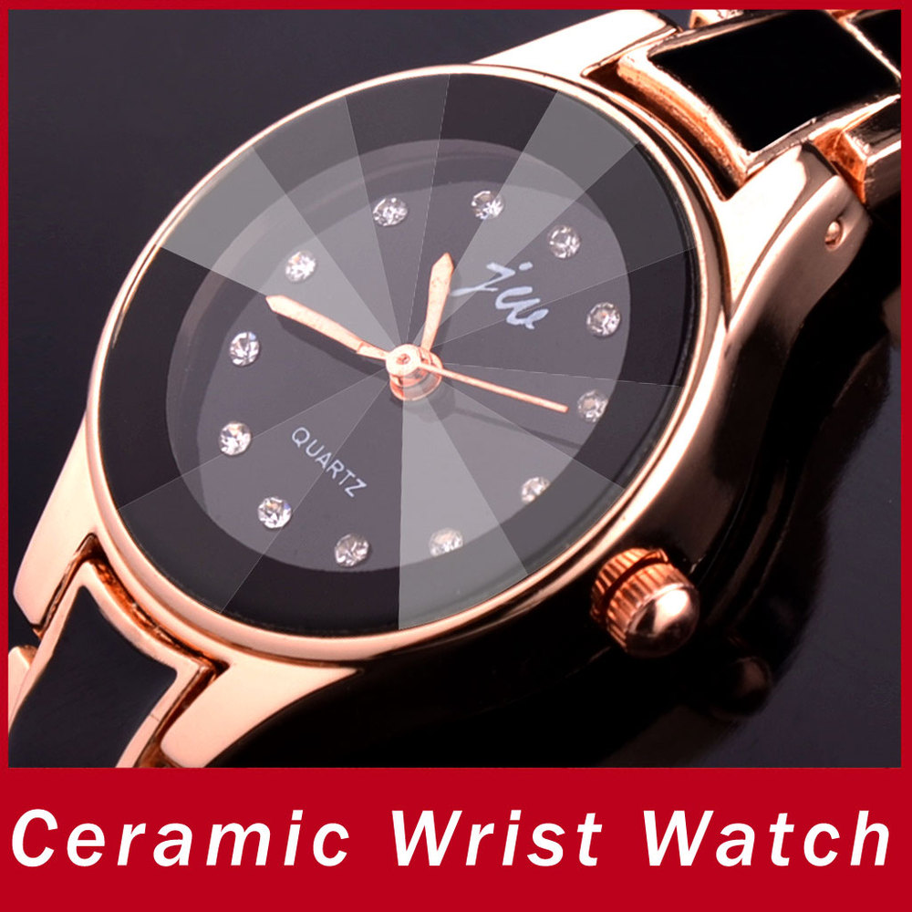 Luxury Fashion Resin Band Ceramic Women Girl Watch Vintage Diamond Bling Dial Casual Bracelet Quartz Wrist Relogio - Atolla Global Flagship Store store