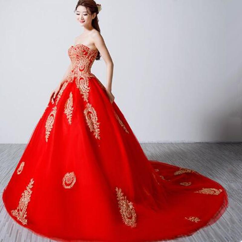 Свадебные красные платья 2017