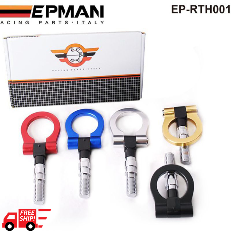 EPMAN - Japan Models Car Racing Screw Aluminum CNC Tow Towing Hook JDM RACE For Honda Toyota EP-RTH001-FS(China (Mainland))