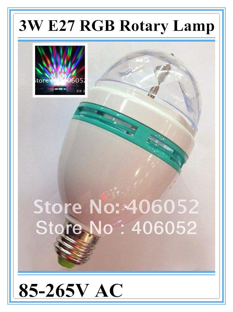 NEW Arrival- 3W RGB Colourful LED 360 Degrees Rotary Lamp Projecting Lamp LED Stage Illumination light 4pcs/lot(China (Mainland))