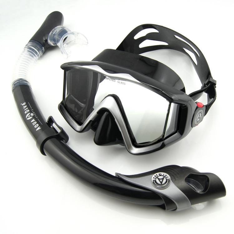 Aqua Dive  Diving Mask Snorkel Set Breathing Full Dry Tube Diving Equipment Snorkeling Spearfishing