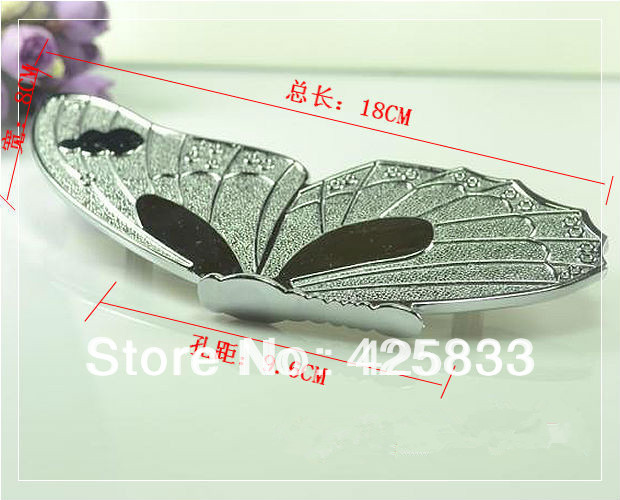 Free Shipping 96mm Silver Butterfly Antique Bronze Zinc Alloy Drawer Handles Kids Children Cabinet Knobs Kitchen Pulls