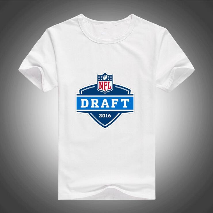 Summer Men t Shirts 2016 New Fashion Tops Tees Mens print American Football Draft Logo Clothing Casual Tees 162(China (Mainland))