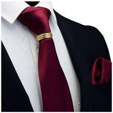 Gusleson новый дизайнерский Однотонный мужской галстук с карманом квадратный галстук застежка набор красный желтый зеленый шелковый галстук к...(China)