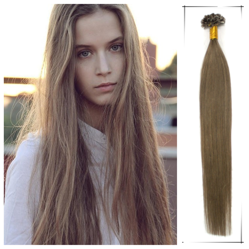 Wholesale 20inch/50cm Brazilian Human Straight Keratin Tip Remy Hair Weaves 50g/pc Shedding Free Permanent Hair Extensions(China (Mainland))