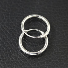 Round Black Gold Rhinestone Silver Money Pocket Coral Charm Simple Hollow Loop Metal Hoop Earring For Man Women Unisex Jewelry(China)