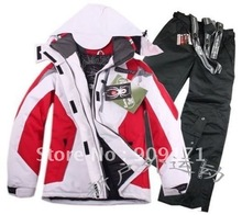 free Shipping New Women s 6 Color Ski Suits Jacket pants S XXL