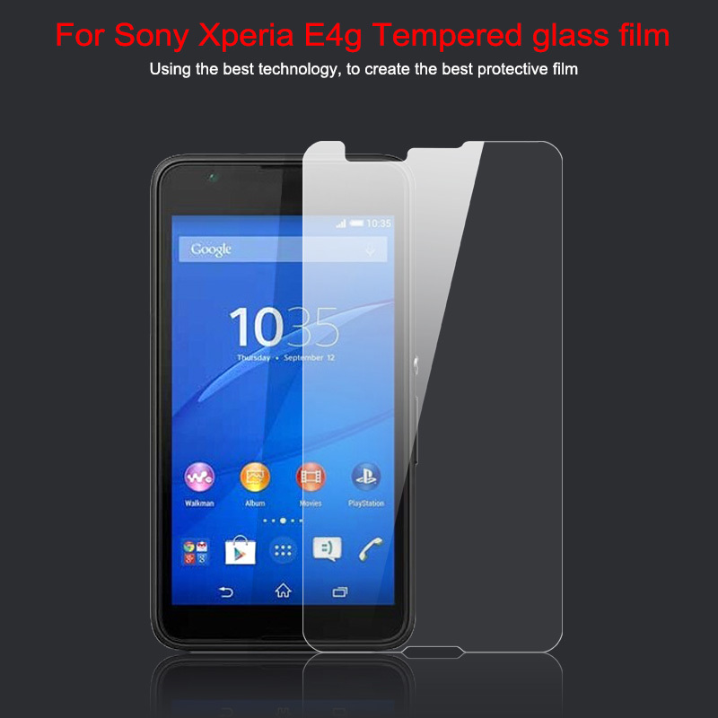 0.33mm 2.5D 9H Hardness Tempered Glass Sony E4g E2003 Proof Tough Screen Protector Film Retail Package Free HDLShipping - SZHJJ store