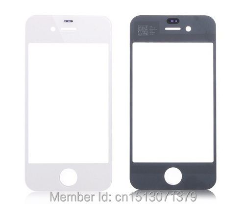 iPhone 4 4S Screen Glass Replacement LCD Front Touch Outer Lens Black/White - ZGD Mobile phone accessories retail store