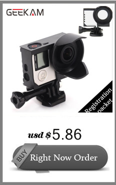 GEEKAM Go pro Accessories The Same Direction Straight Joints For Gropro Hero 4/3+/3/2/1 sjcam sj4000 xiaomi yi camera Wholesale