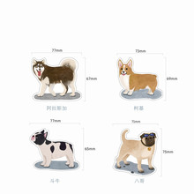 Buy dog sticky notes Cartoon memo pad Kawaii post material escolar scrapbooking planner stickers office supplies sticker diary for $1.31 in AliExpress store