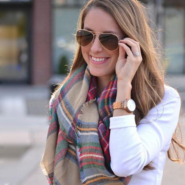 Za шарфы европейских и американских большой звездой с все стороны должны клетчатые кашемировые шали шарфа шарф зимы