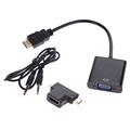 1080P Micro HDMI Mini HDMI HDMI to VGA Converter Adapter Male to Female 3 in 1