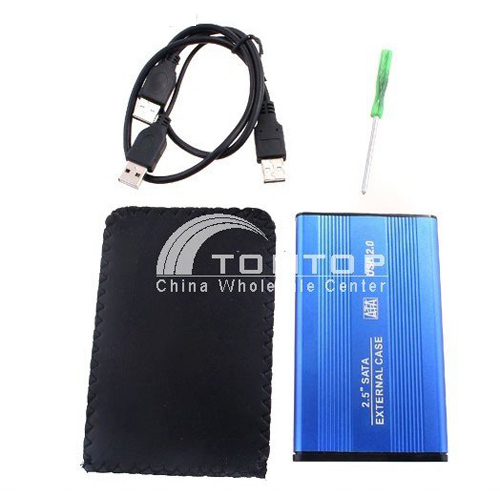 """Hight-speed Aluminum External Storage System for 2.5"""" Hard Disk Drive HDD Case Enclosure(China (Mainland))"""