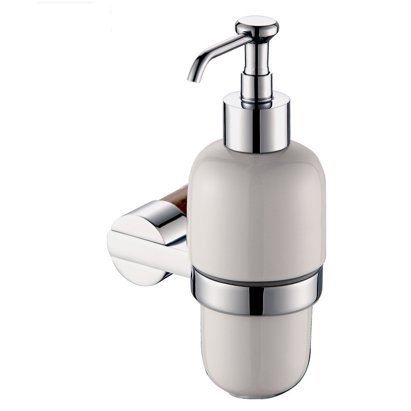 High-end Solid brass & marble Soap Dispenser/Lotion Dispenser,Brass base with chrome finish+Frosted glass container(China (Mainland))