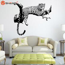 Large Leopard Vinyl Wall Sticker Home Decoration Animal Wall Decor Wall Mural Wallpaper(China (Mainland))