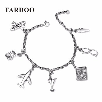 TARDOO Classic Real Sterling Silver Charms Bracelets for Women 7 styles DIY Pendants Bracelet Sterling-Silver-Jewelry