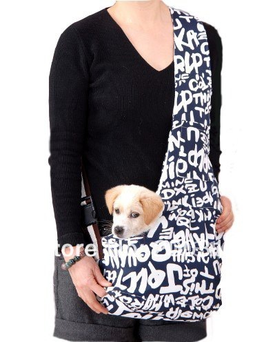 New Blue Pet Sling Carrier Dog Cat Carrier  dog carrier Free Shipping  Retail