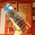 750ml Portable Handle Plastic Sport Water Bottle With Tea Infuser Outdoor Drinking Cup Tritan Tumbler Bicycle