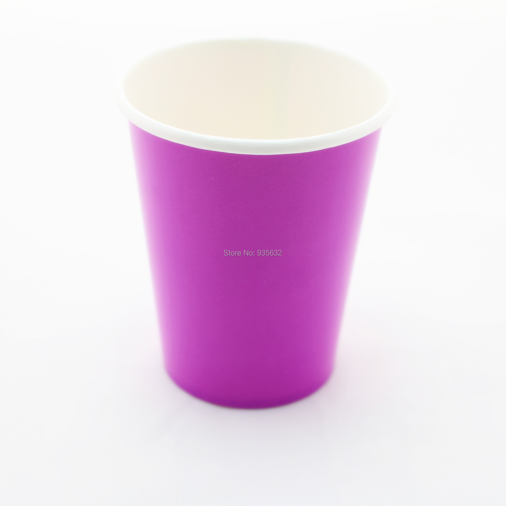 Aliexpress Buy 120pcs Lot Purple Disposable Paper Cups Party Wedding Drinking Cups On Sale