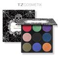 TZ Brand Eyeshadow Palette 9 Colors Matte Diamond Glitter Foiled Eye Shadow in One Palette Blush