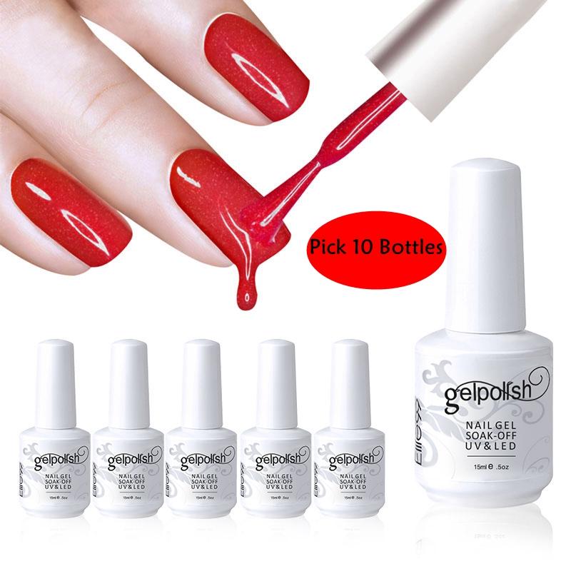 1Elite99 15ml Soak UV Gel Nail Polish Top Coat Base Foundation DHL Free USA - Elite99 Royal Beauty store