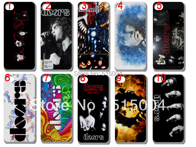 New design the doors band hard back case for iphone 5 5th 10pcs/lot +free shipping(China (Mainland))