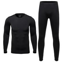 New 2015 Men's Fleece Thermal Outdoor Sports Underwear Bicycle Skiing Winter Warm Base Layers Tight Long Johns Top & Pants Set(China (Mainland))